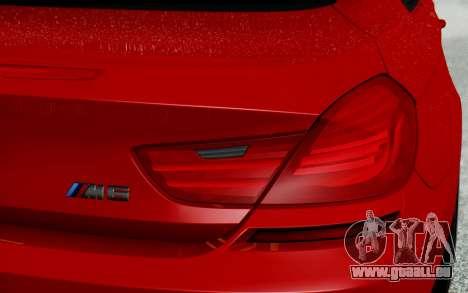 BMW M6 2013 v1.0 pour GTA San Andreas vue de dessous