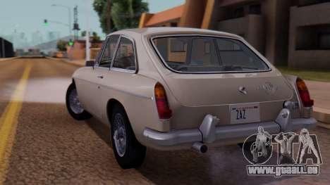 MGB GT (ADO23) 1965 FIV АПП pour GTA San Andreas laissé vue