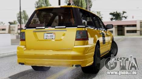 Vapid Landstalker Taxi SR 4 Style Flatshadow pour GTA San Andreas laissé vue
