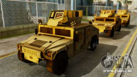 PR BF2 US Army UpArmored Humvee Armed with MK19 für GTA San Andreas