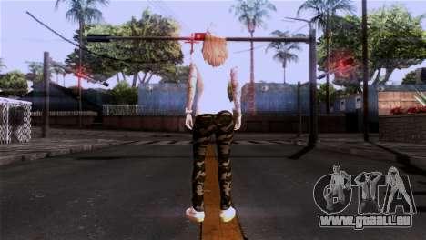La peau de fille pour GTA San Andreas troisième écran