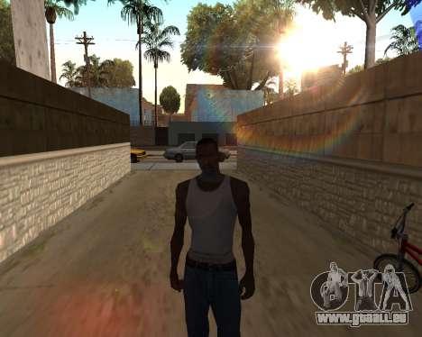 Le soleil de GTA 5 Final pour GTA San Andreas deuxième écran
