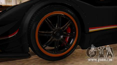 Pagani Zonda Revolucion 2015 für GTA San Andreas zurück linke Ansicht