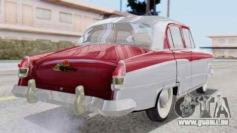 GAZ 21 Volga v2 pour GTA San Andreas laissé vue