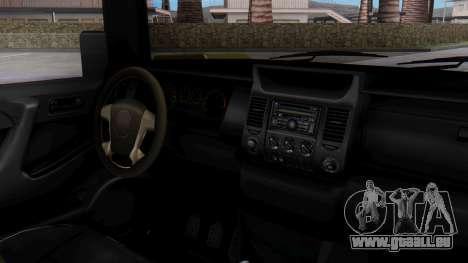 GTA 5 Patriot Dirt pour GTA San Andreas vue de droite