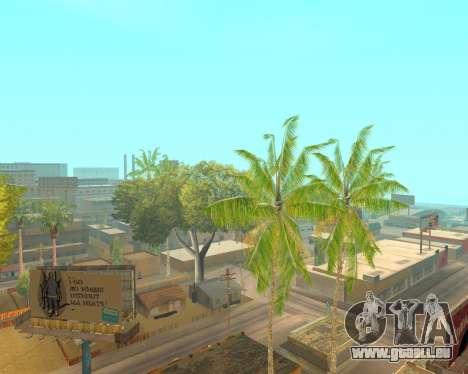 Des palmiers à partir de Crysis pour GTA San Andreas troisième écran