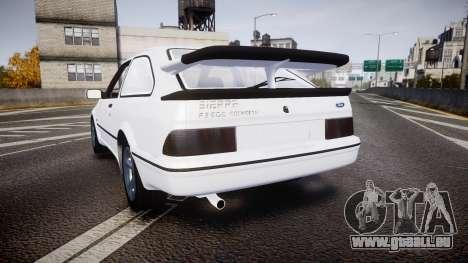 Ford Sierra RS500 Cosworth für GTA 4 hinten links Ansicht