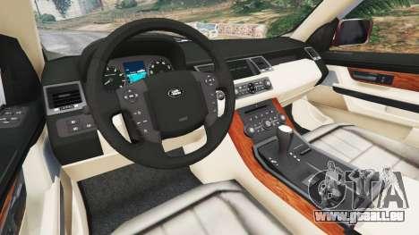 GTA 5 Range Rover Sport 2010 v0.7 [Beta] arrière droit vue de côté