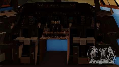Boeing 747 Air Force One für GTA San Andreas Innenansicht