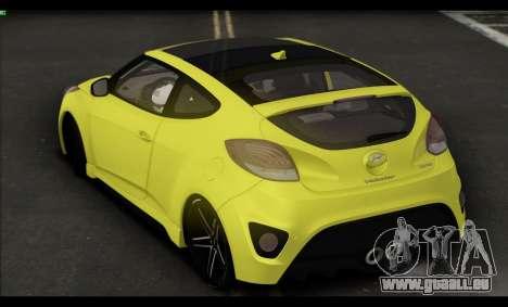 Hyundai Veloster 2012 für GTA San Andreas Rückansicht