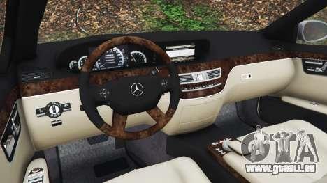 GTA 5 Mercedes-Benz S500 W221 v0.3 [Alpha] rechte Seitenansicht