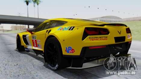 Chevrolet Corvette C7R GTE 2014 PJ1 pour GTA San Andreas laissé vue
