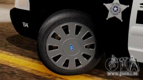 Police SF 2013 pour GTA San Andreas sur la vue arrière gauche