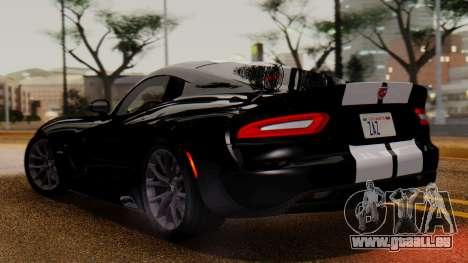 Dodge Viper SRT GTS 2013 IVF (MQ PJ) LQ Dirt pour GTA San Andreas sur la vue arrière gauche