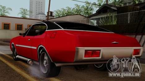 Muscle-Clover Beta v2 pour GTA San Andreas sur la vue arrière gauche