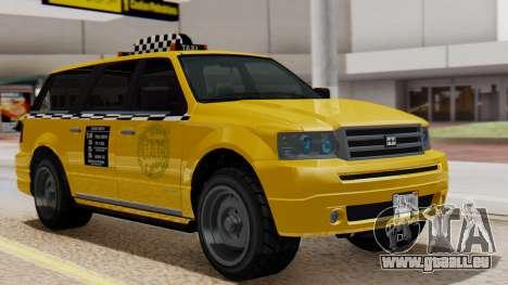 Landstalker Taxi SR 4 Style Flatshadow für GTA San Andreas