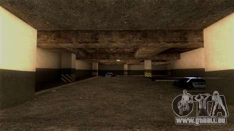 Nouveau LSPD Parking pour GTA San Andreas deuxième écran