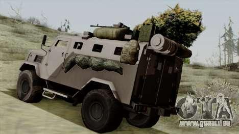 SPM-3 from Battlefiled 4 pour GTA San Andreas laissé vue