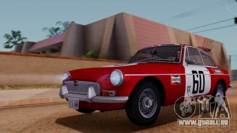 MGB GT (ADO23) 1965 IVF АПП für GTA San Andreas Unteransicht