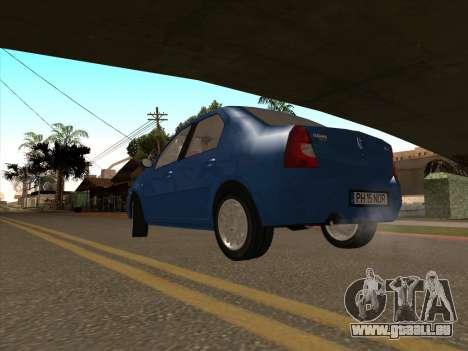Dacia Logan Prestige pour GTA San Andreas sur la vue arrière gauche