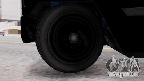 GTA 5 Enforcer Raccoon City Police Type 2 für GTA San Andreas zurück linke Ansicht