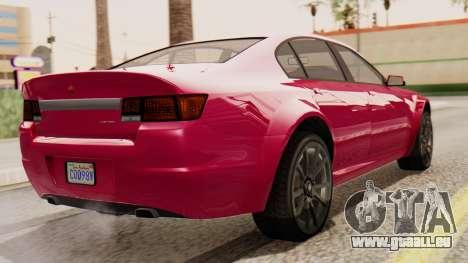 GTA 5 Cheval Fugitive für GTA San Andreas linke Ansicht