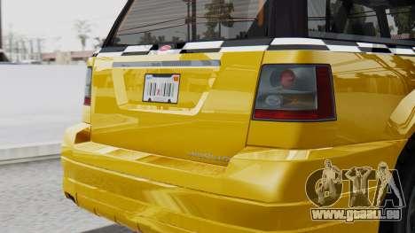 Vapid Landstalker Taxi SR 4 Style Flatshadow pour GTA San Andreas vue de droite