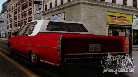 GTA 5 Albany Emperor Worn IVF pour GTA San Andreas laissé vue