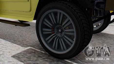 GTA 5 Patriot Dirt pour GTA San Andreas sur la vue arrière gauche