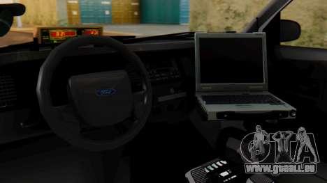 Police SF 2013 pour GTA San Andreas vue intérieure