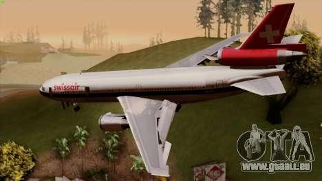 DC-10-30 Swissair pour GTA San Andreas laissé vue