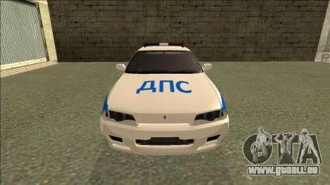 Nissan Skyline R32 Russian Police pour GTA San Andreas vue de droite