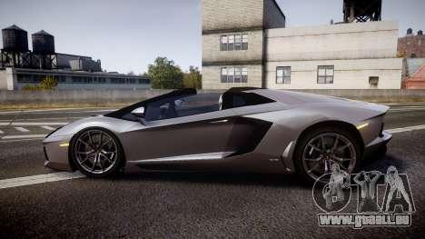 Lamborghini Aventador Roadster pour GTA 4 est une gauche