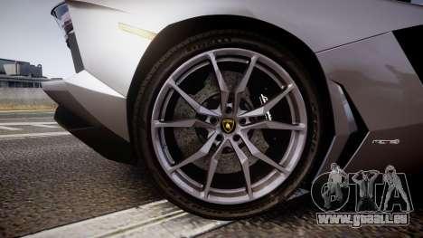 Lamborghini Aventador Roadster pour GTA 4 Vue arrière