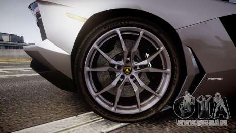 Lamborghini Aventador Roadster für GTA 4 Rückansicht