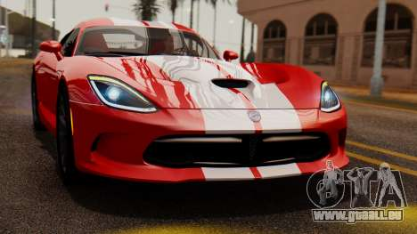 Dodge Viper SRT GTS 2013 IVF (MQ PJ) LQ Dirt pour GTA San Andreas vue de droite