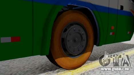 Marcopolo Bus Caribbean Travel pour GTA San Andreas sur la vue arrière gauche