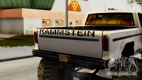 Nouvelle peinture originale pour Un Monstre pour GTA San Andreas sur la vue arrière gauche