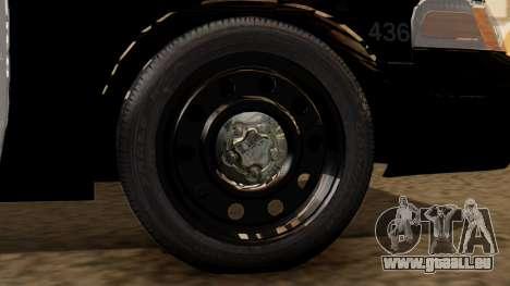 Police LS 2013 pour GTA San Andreas sur la vue arrière gauche