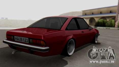 Opel Manta B1 pour GTA San Andreas laissé vue
