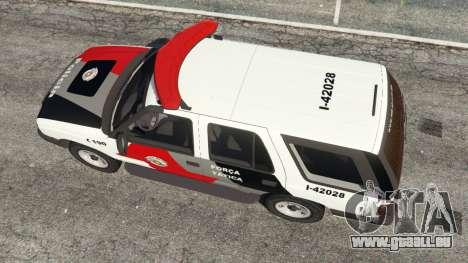 GTA 5 Chevrolet Blazer Sao Paulo State Police vue arrière