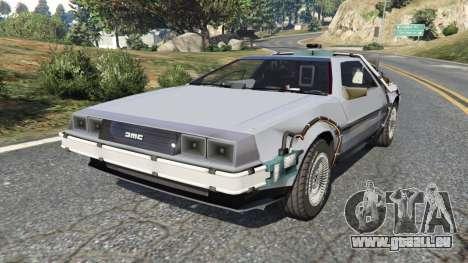 DeLorean DMC-12 Back To The Future v0.2 pour GTA 5