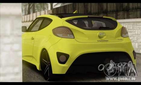Hyundai Veloster 2012 pour GTA San Andreas salon
