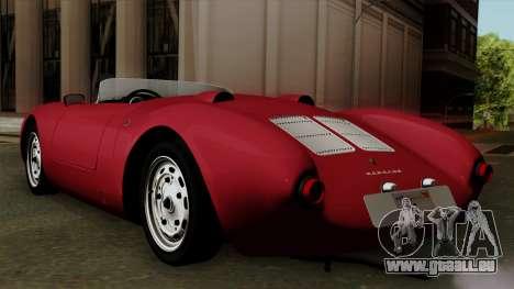 Porsche 550A Spyder 1956 pour GTA San Andreas laissé vue