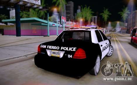 Ford Crown Victoria Police pour GTA San Andreas laissé vue