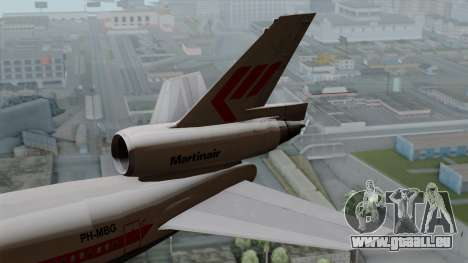 DC-10-30 Martinair für GTA San Andreas zurück linke Ansicht