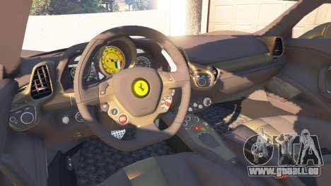 GTA 5 Ferrari 458 Italia v0.9.3 arrière droit vue de côté