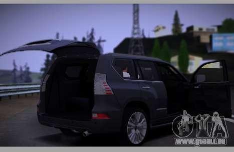 Lexus GX460 2014 pour GTA San Andreas vue de dessus