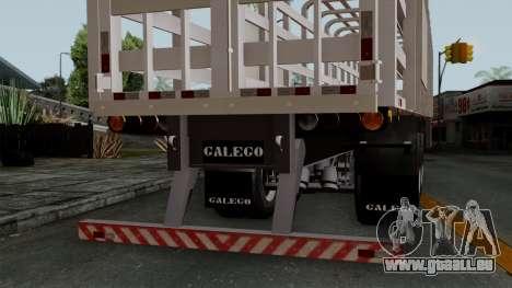 Trailer Rejas Gas pour GTA San Andreas vue de droite