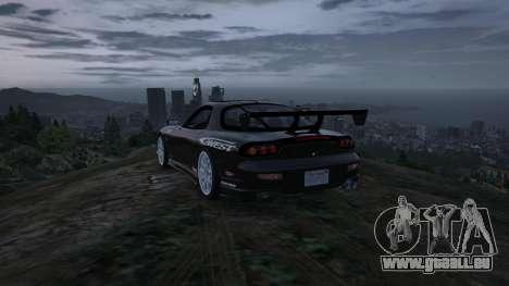 GTA 5 Mazda RX7 C-West 0.2 arrière droit vue de côté